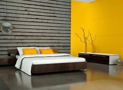 自然粘土塗料ボルボックスクレイペイントで仕上げた室内